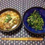 牛カルビスープと空芯菜