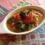 ブロッコリーとトマトのカレー炒め