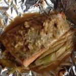 鮭のネギ味噌チーズ焼き